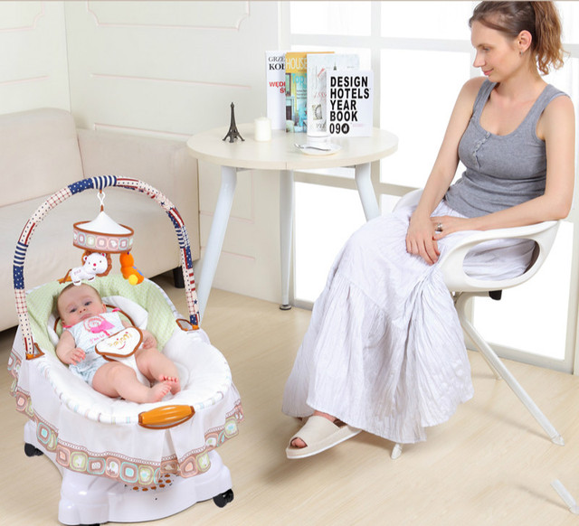 5880c0e4c82a High Quality Baby Cradle Bed Newborn Baby Rocking Cradle Electric ...