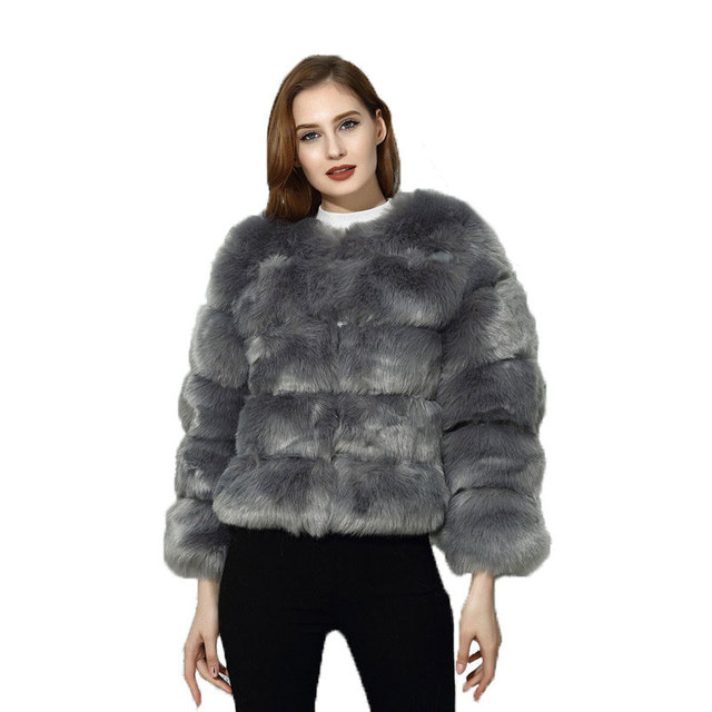 f6ce02d3df7 Fluffy Faux Fur Coat Women Winter Jacket Fashion Thick Warm Overcoat Faux  Fox Fur Coats Female Fur Jacket Casual Party Overcoat