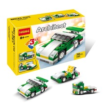 Decool 3101 Architect Series Mini Motor Racing 3 in 1 Buidling Blocks Modern Minifigures Kids Toy For Gift Best Toys