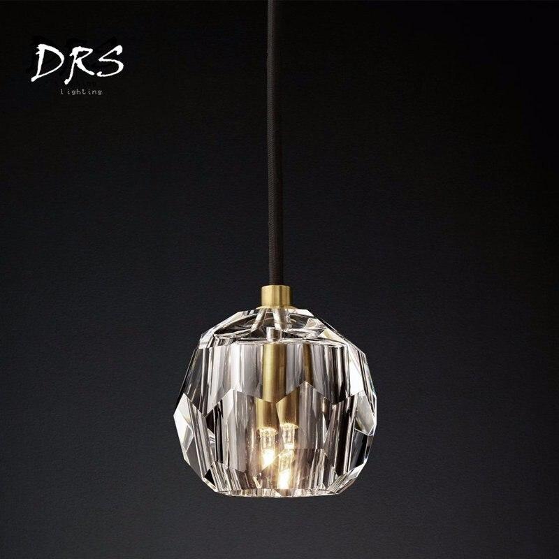 Postmodern Crystal Ball Pendant Light Luxury Creative Nordic Hanglamp  Bedroom Suspension Luminaire Lustre Pendant LightingPostmodern Crystal Ball Pendant Light Luxury Creative Nordic Hanglamp  Bedroom Suspension Luminaire Lustre Pendant Lighting