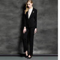 New High Quality Sexy Womens Business Suits Custom made Black OL Formal Suits Women Suits