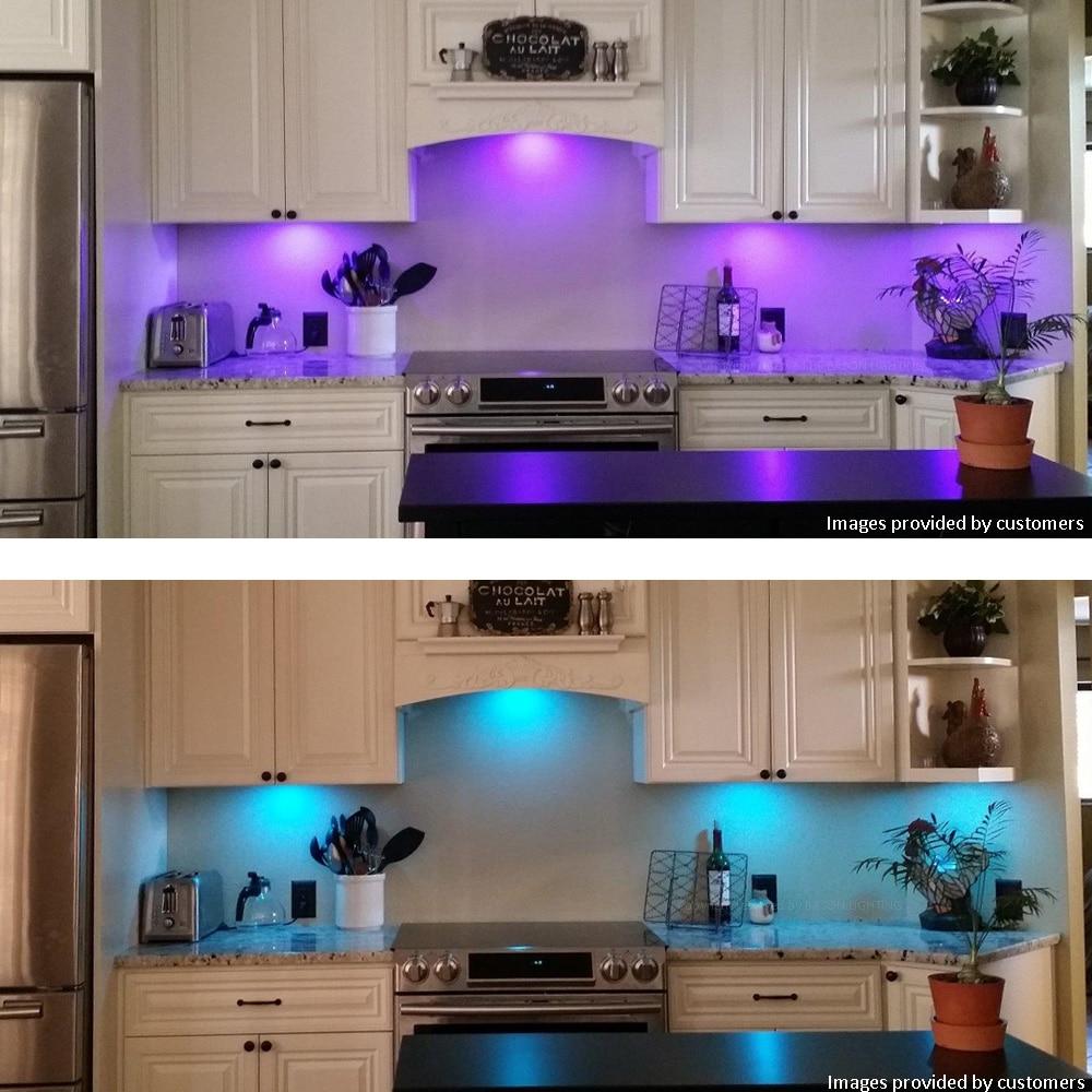 Bason Rgb Kitchen Under Cabinet Led Lighting Bar Shelves Light Lamp 12v 16 Colors 4p58862h In Lights From On