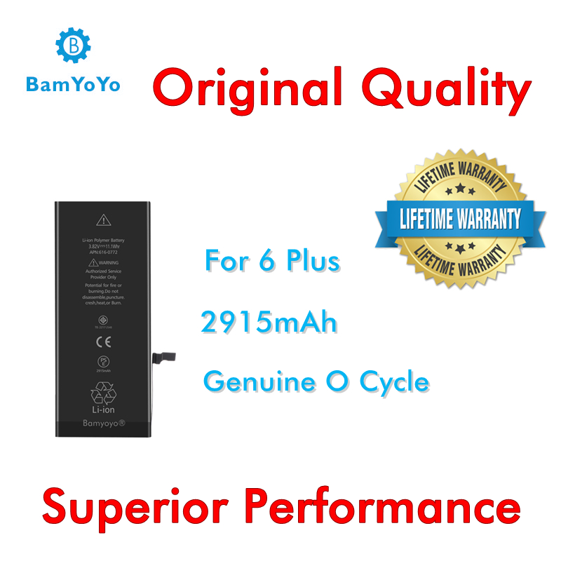 50pcs/Lot-iPhone -2915mah-Batteryfor 6-Plus Original-Quality Ce Ul No-Tax Superior-Performance