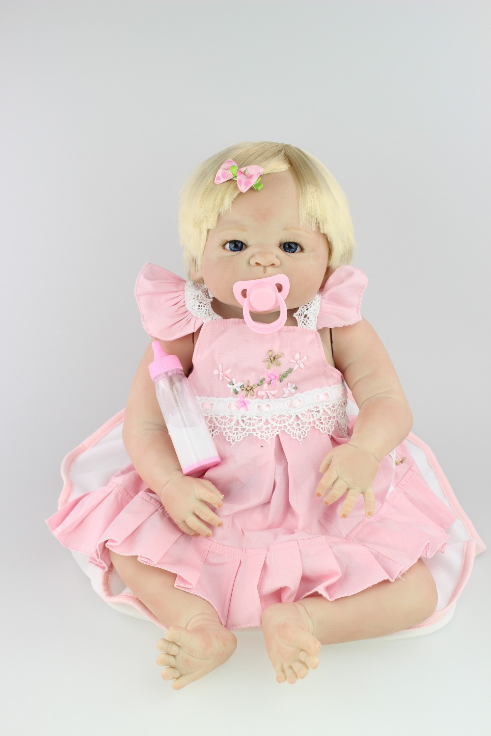 NPKCOLLECTION lifelike full vinyl reborn baby doll popular gift for children on Christmas and Birthday bonecas reborn