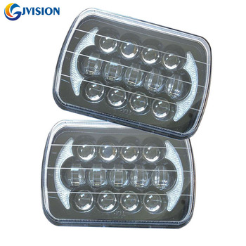 5x7'' 7inch Square led headlight 105W LED Driving lamp for Jeep Wrangler YJ Cherokee XJ H6054 H5054 H6054LL 69822 6052 6053