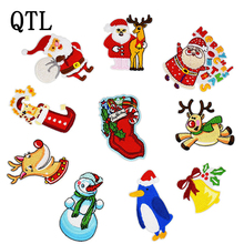 1PCS Christmas Series Patch for Kid Embroidery Patches Clothing Shoes DIY Iron on Transfer Applique Clothes Bags