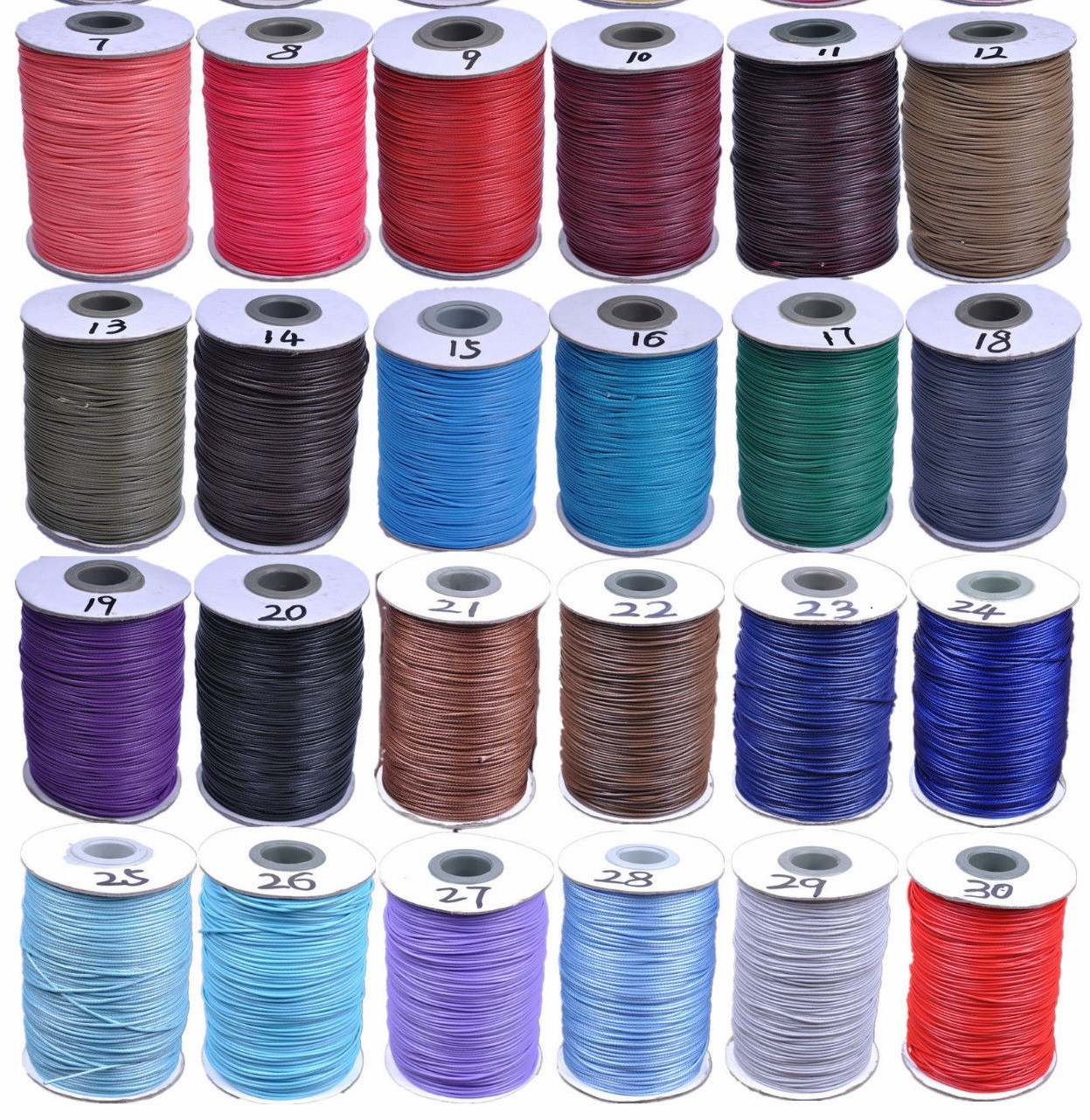200 Yards 1mm Wax String Wire Thread Cord dacron fiber 30 Colors(China