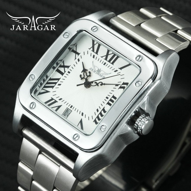 WINNER Men's Watches Top Brand Luxury Rectangle Automatic Mechanical Wrist Watch