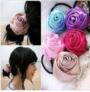Free shipping+wholesale,multicoloe rose headband,hair accessory/fashion headband brooch (F-11)