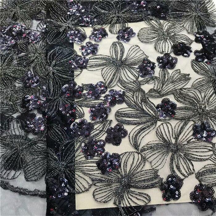 جديد تصميم أسود أخضر بحيرة الأزرق التسلق بريق المطرزة صافي الترتر الدانتيل النسيج لصقها تولّ لامع النسيج لفستان مثير-في دانتيل من المنزل والحديقة على  مجموعة 3