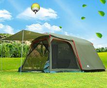 Новый стиль ultralarge один зал одна спальня двойной слой 5-8 человек водостойкий Высокое качество кемпинг туристическая палатка
