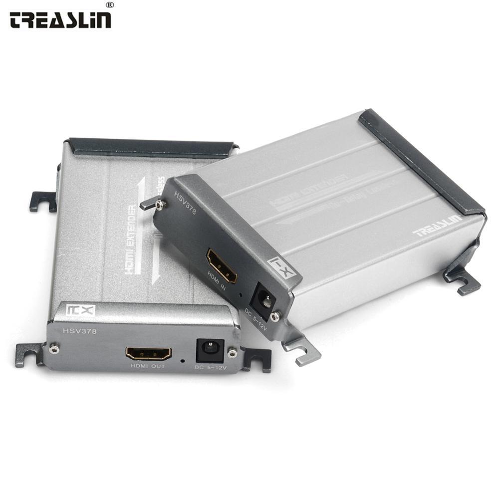 TreasLin HDMI para DHTV proyector 100 metros transmisión sin pérdidas sobre Cat5e Cat6 sola LAN Cable 328FT HDMI remitente