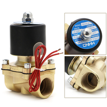 цена на 3/4 220V Electric Solenoid Valve Normally Closed Brass Solenoid Magnetic Valve Pneumatic Water Oil Air Gas Valve