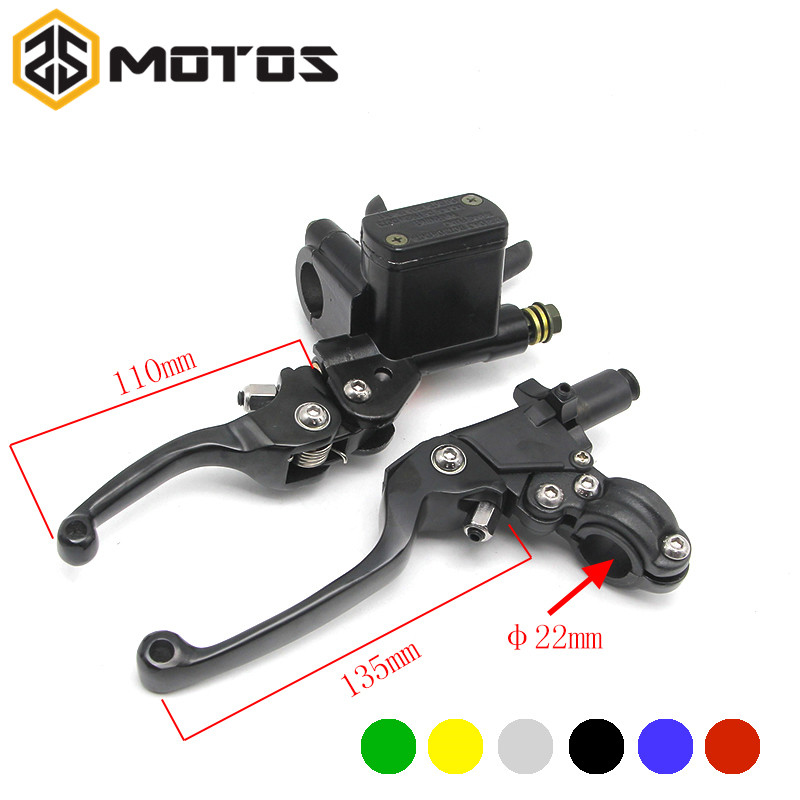 ZS MOTOS CNC Folding Brake Lever ASV Clutch Lever With Front Pump Fit Motorcycle Dirt Bike Motocross CRF KLX YZF RMZ Refit Part asv clutch and brake folding aluminum lever for dirt bike pit bike spare parts