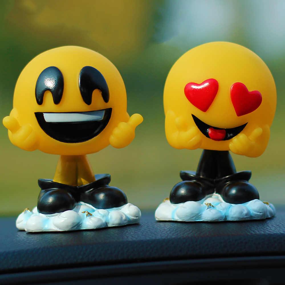 Автомобиль Украшения милые смолы забавные выражения качая головой Куклы украшения размахивая глава emoji Игрушечные лошадки в авто Декор Интимные аксессуары