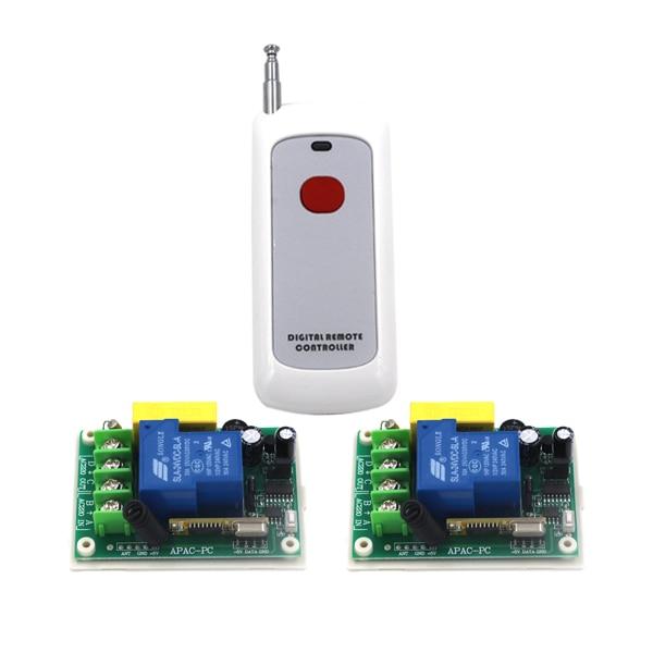 Wireless 1 Channel Light Remote Control Switch+Transmitter 220V 30A SKU: 5316 220v 30a single channel remote control switch remote receiver for door window 1 transmitter control 8 switchs 4354