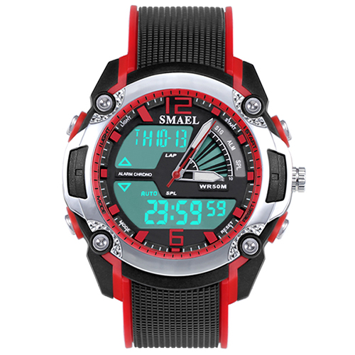 Kids Digital Watch Smael Waterproof Quartz Dual Time Wirstwatch Digital Wach 1343 Shock Watches Children Clock Boy Sport Watch