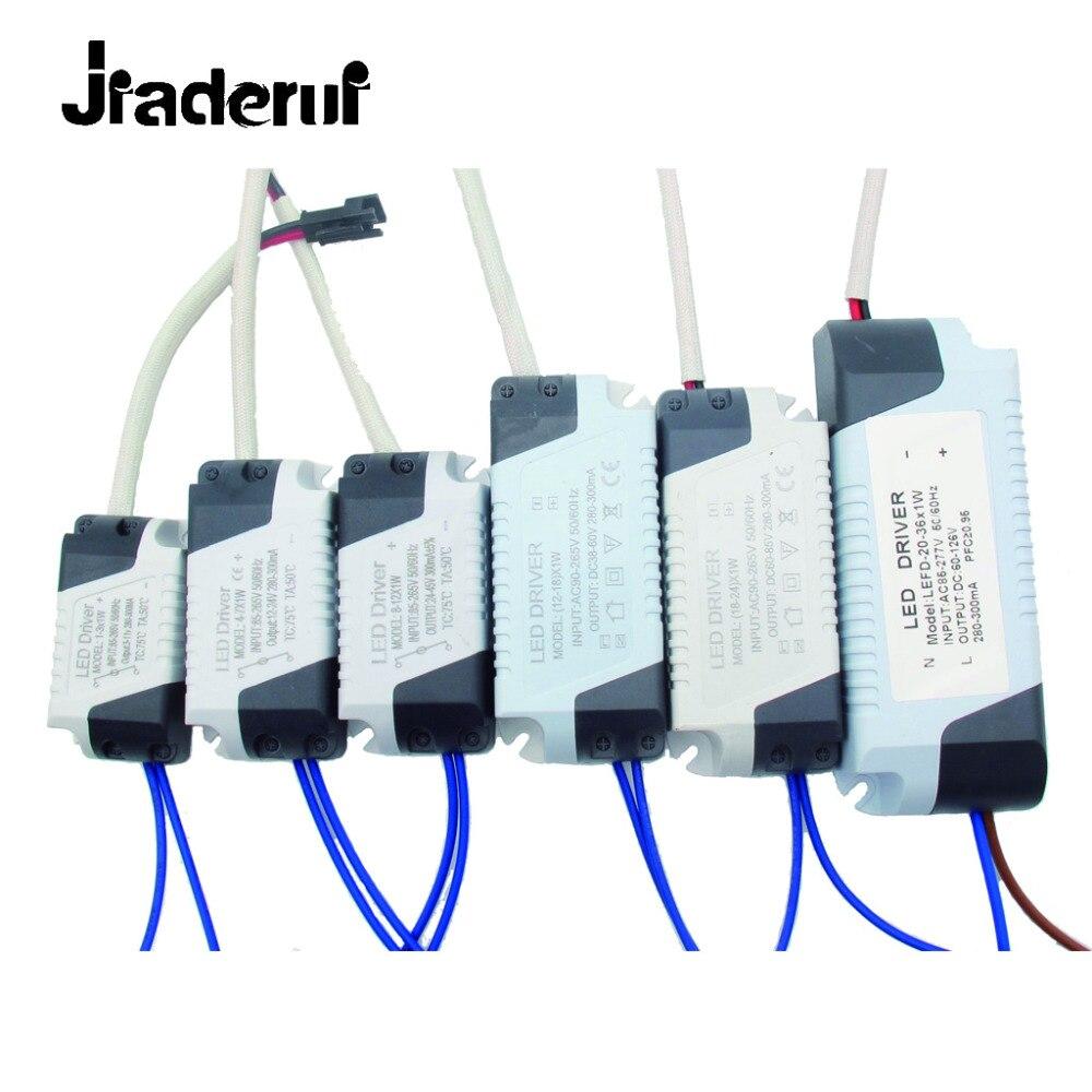 Jiaderui 300mA 1-36W Plastic Shell LED Driver AC90-265V Input Light Transformer Constant ...