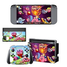 Game Kirby Skin Sticker vinyl for NintendoSwitch stickers skins for Nintendo Switch NS Console and Joy-Con Controllers