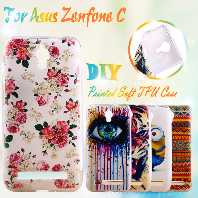 AKABEILA Painted TPU Silicone Phone Cases For Asus Zenfone C ZC451CG Z007 ZenfoneC 4.5 inch Cases Covers Housing Phone Bag