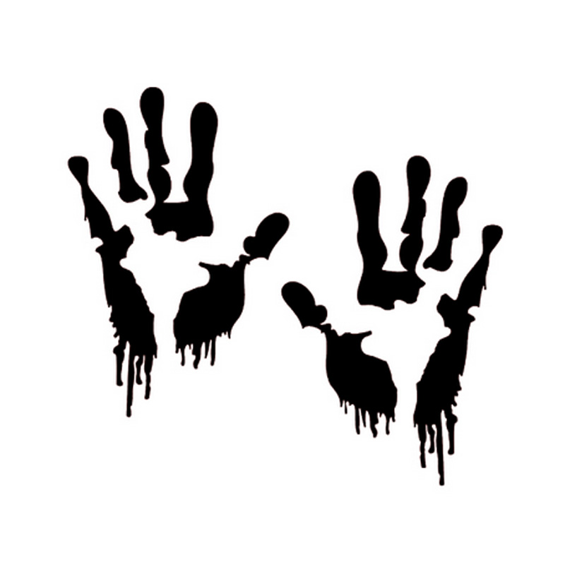Team Rick Bloody Zombie Hand Walking Dead Car Window Vinyl Decal Sticker