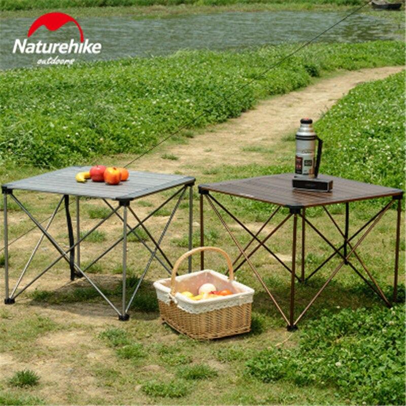 Naturehike открытый складной столик для кемпинга открытый рыбалка кемпинг столы портативный легкий алюминиевый стол Кемпинг Пикник парк - 4