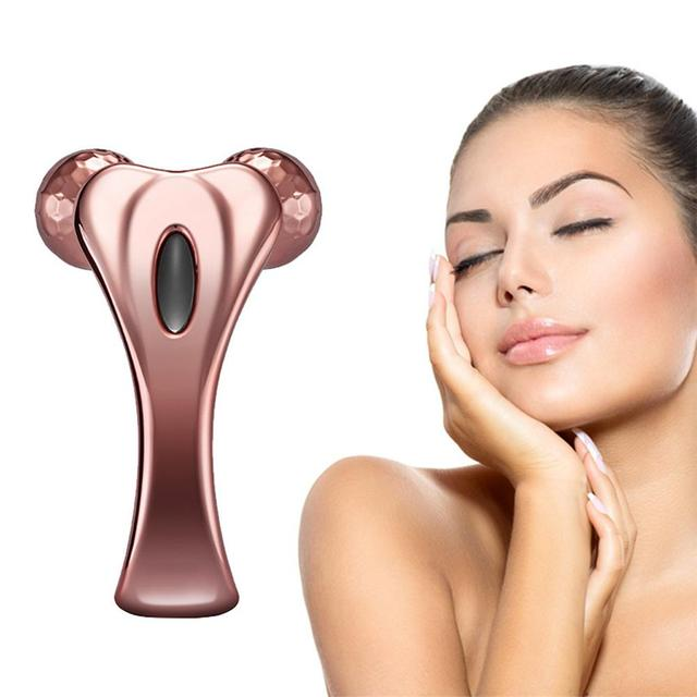 Y Shaped Rose Gold Facial Massager