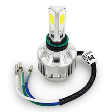 H4 Cob Led Lamp Hid Wit 360 Hi/Low Beam Motorfiets Koplamp 6500K High Power(China)