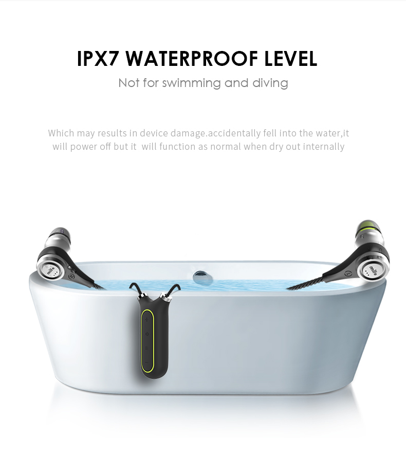 mifo i2 Necklace Design Wireless Bluetooth Headset Sport Waterproof IPX6 Earphones and Headset HiFi Mp3 Player for mobile phone