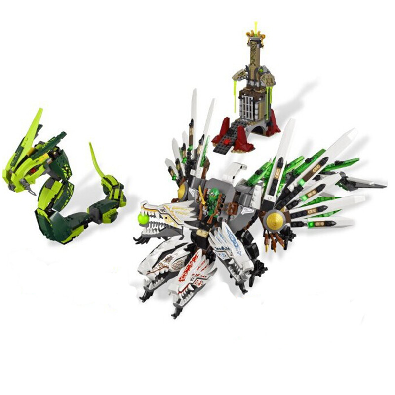 9789 Epic Dragon Battle Ninja Building Blocks for Children Toys Set Boy Game Team Castle Compatible With Lepin compatible with lego ninjago 9450 lele 79132 959pcs blocks ninjago figure epic dragon battle toys for children building blocks
