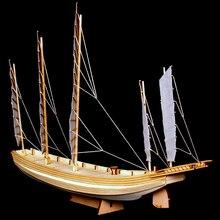 цена China Large Junk Model Kits Antiqued Sailboat Toys Laser Cutting Process Children Handwork Lessons Equipment онлайн в 2017 году