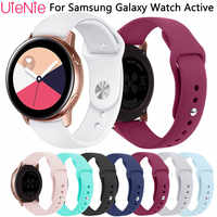 20mm frontier silicone replace strap For Samsung Galaxy Watch Active bracelet for Samsung Gear S2 wristband accessories watchban
