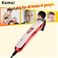 Kemei titanium steel blade Corded Electric Hair Clipper haircut cutting machine barber Professional Hair Trimmer with limit comb