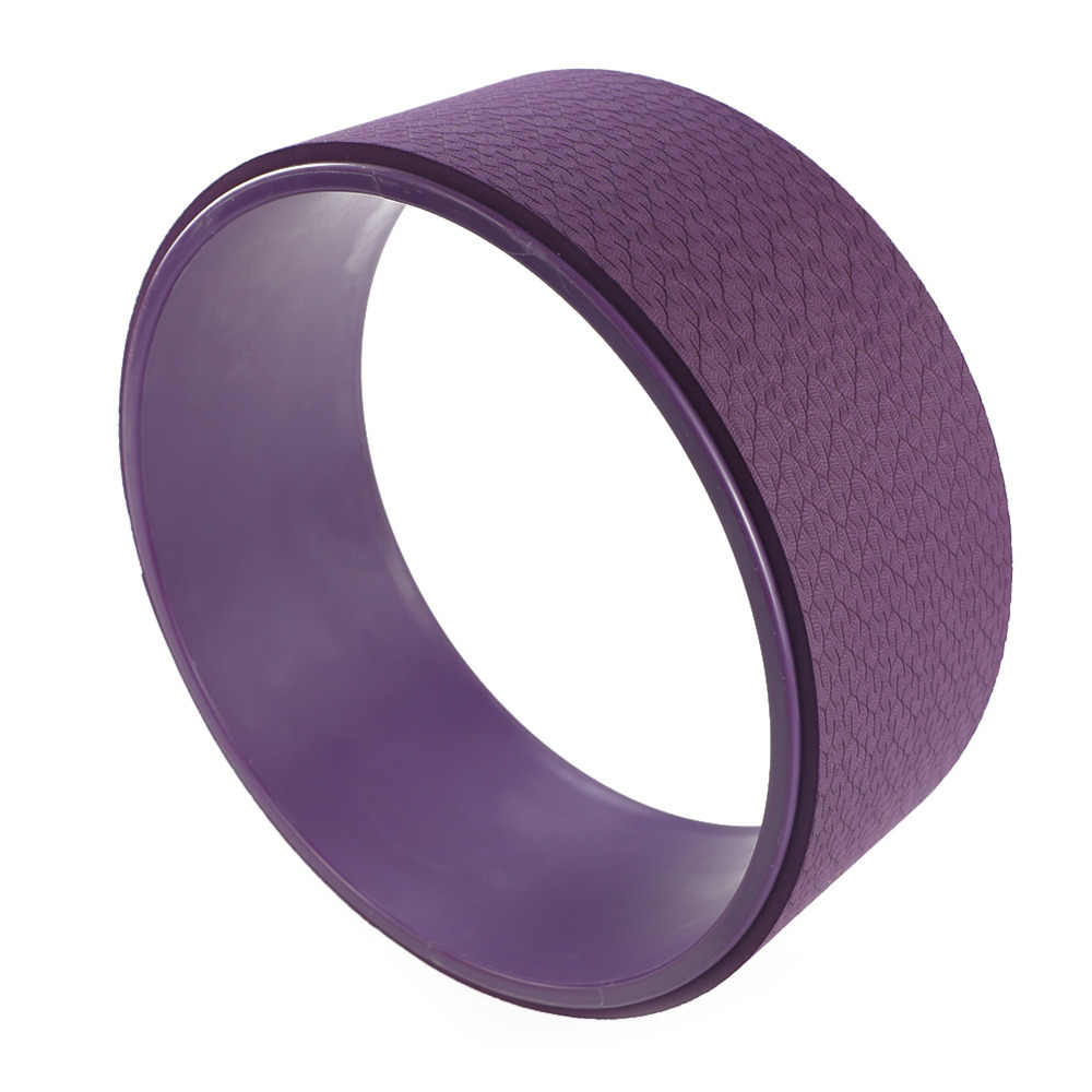 TPE joga koła Pilates ćwiczenia profesjonalny kształt talii kulturystyka siłownia trening koło do jogi z powrotem przyrząd szkoleniowy dla Fitness