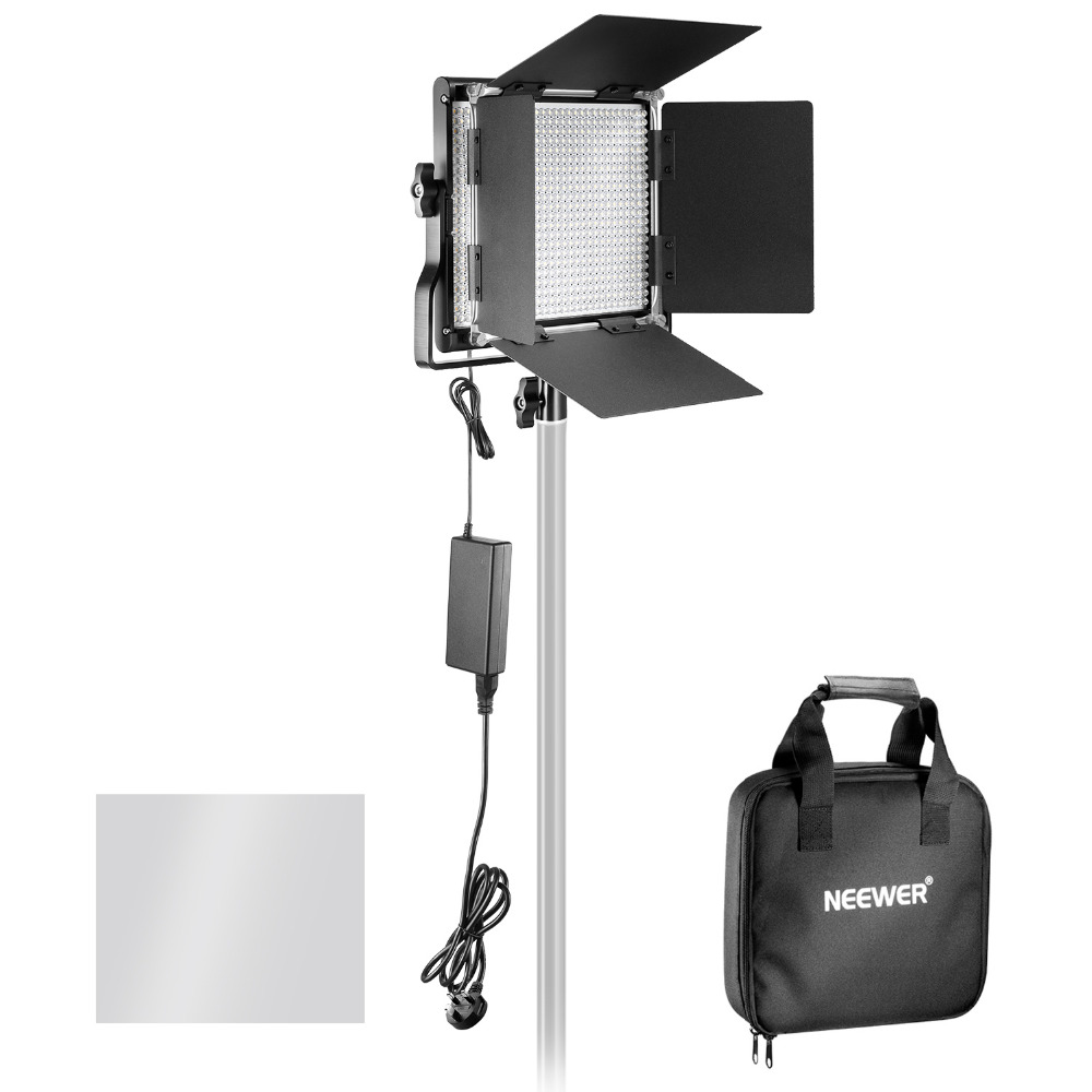 Neewer Professional Metal Bi-color LED Video Light for Studio YouTube Product Photography Video Shooting Durable Metal Frame 2 6w 180lux 36 led professional video light black