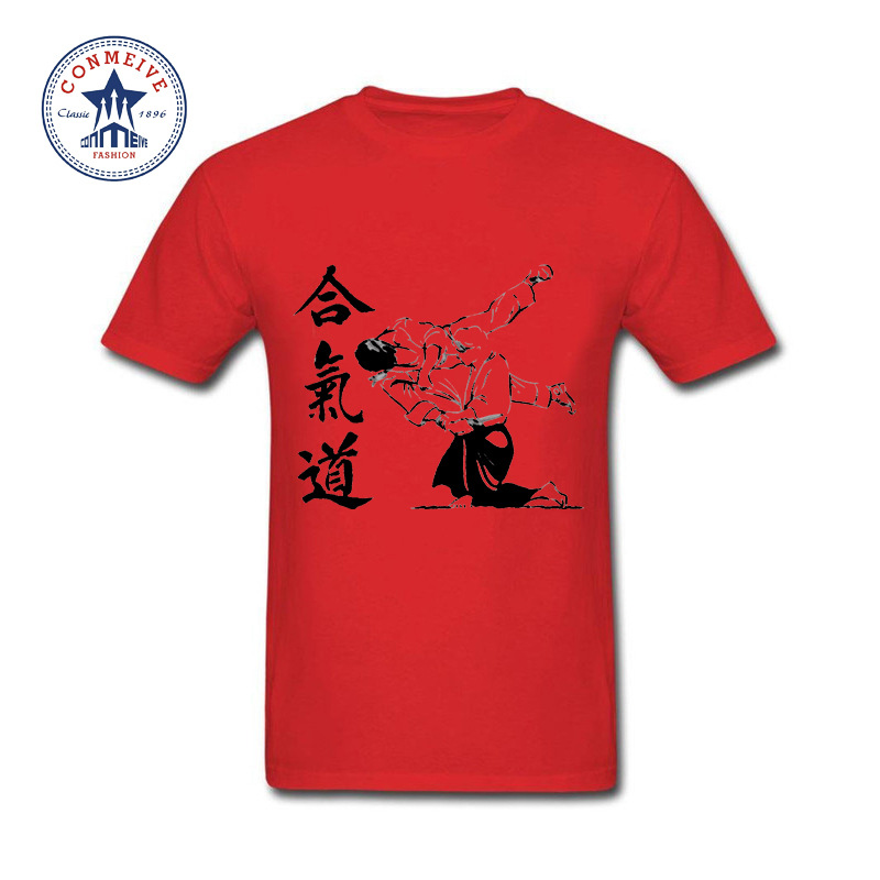 HTB1ofvYajihSKJjy0Fiq6AuiFXaE - t shirt aikido 2017 Teenage Youth Funny Cotton for men