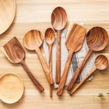 Деревянная ложка с длинной ручкой антипригарная сковорода большая ложка для супа металлическая кулинарная лопатка посуда Resuable столовые приборы кухонные инструменты