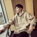 Engrossar cordeiros com capuz homens mulheres moda de rua hip hop moletom com capuz masculino camisola ocasional pullover solta J702