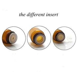 Image 5 - 100pcs 1ml 2ml 3ml 5ml Drams Amber Glass Bottle With Plastic Lid Insert Essential Oil Glass Vials Perfume Sample Test Bottle