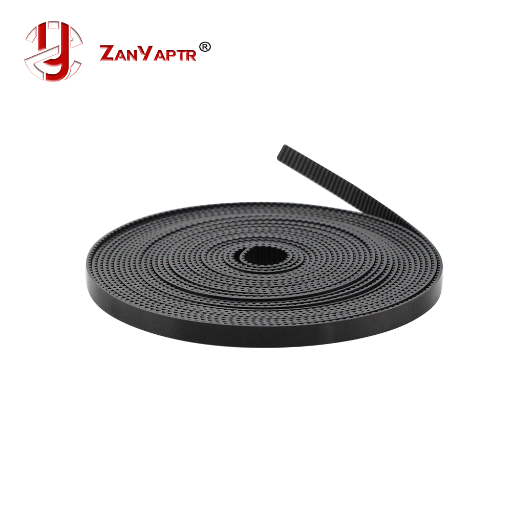 2M/lot PU With Steel Core GT2 Belt Black Color 2GT Timing Belt 6mm Width 2M A Pack For 3d Printer Free Shipping