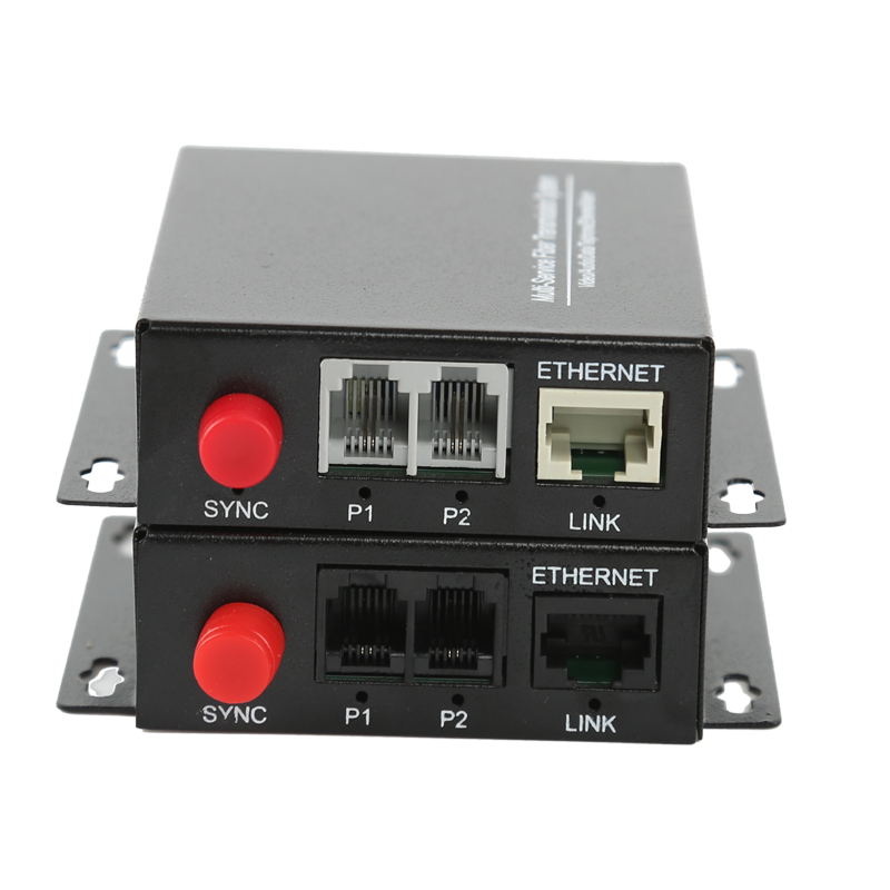 2 Channel PCM Voice Telephone Transmitter Fiber Optic Media Converter Singlemode FC UPC 20KM with Ethernet
