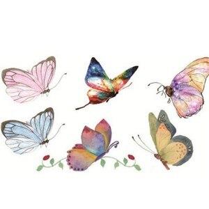 Image 2 - Cor impermeável da tatuagem pintados à mão masculino e feminino pequeno fresco duradouro cor borboleta adesivos