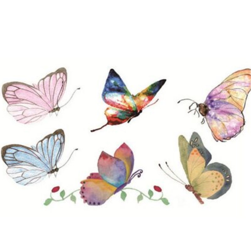 Image 2 - Waterproof tattoo color hand painted male and female small fresh Lasting Color Butterfly Stickers-in Temporary Tattoos from Beauty & Health