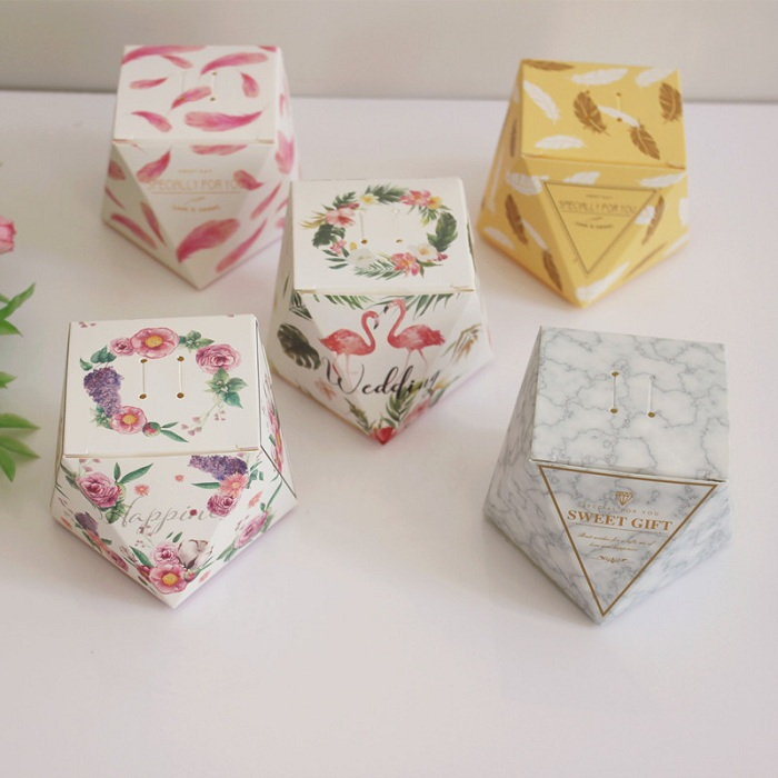 Gift Bags & Wrapping Supplies Motivated 50pcs Innovative Star Pattern Candy Box Triangular Pyramid Shape Candy Box Suitable For Your Garden Theme Classic Theme Party