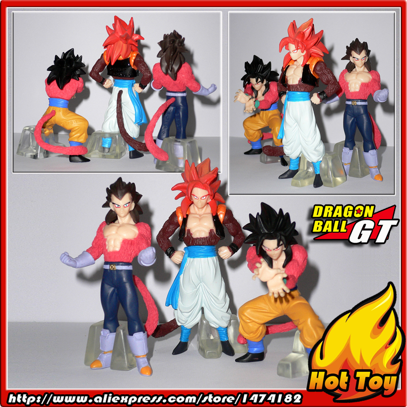 100% Original BANDAI Gashapon PVC Toy Figure HG GT 2 - Goku & Vegeta & Gogeta from Japan Anime Dragon Ball GT sailor moon capsule communication instrument machine accessory gashapon figure anime toy full set 100