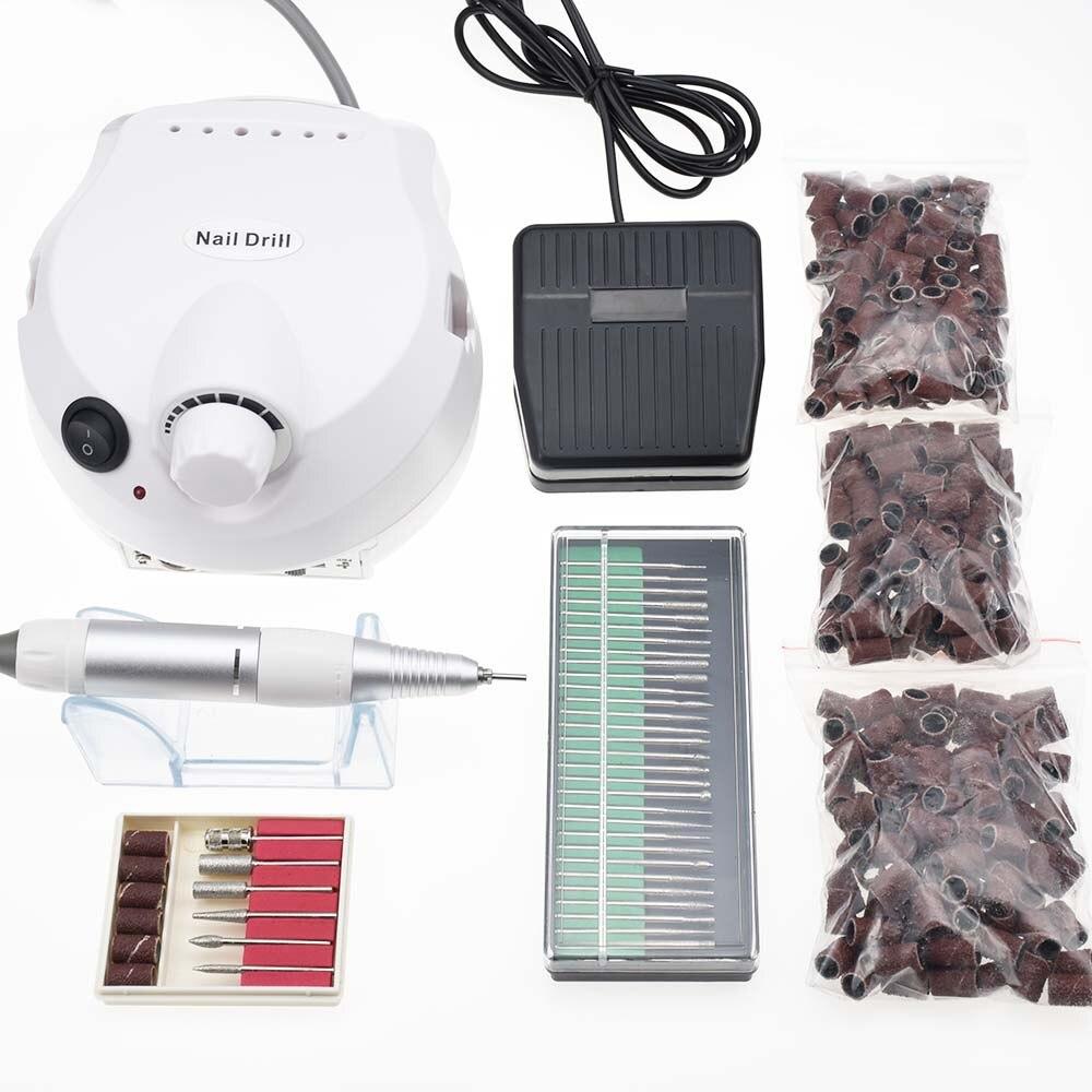 Pro 30000RPM Electric Nail Drill Machine Electric Manicure Machine Drills Accessory Pedicure Kit Nail Drill File Bit Nail Tools