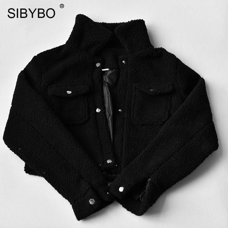 HTB1ofwwKeuSBuNjSsziq6zq8pXaX SIBYBO Teddy Cozy Autumn Winter Women Coats and Jackets Long Sleeve Slim Crop Top Women Pockets Warm Casual Short Jacket Women