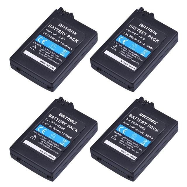 4個PSP 1000 PSP1000 3600 2600mahの3.6v充電式バッテリーパックの交換ソニーコンソールプレイステーション