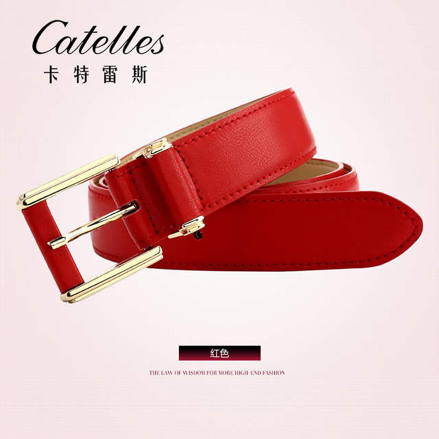 CASTELLES Formal Belts For Women 6 colors Designer Fashion Female Belt Woman High Quality Genuine Leather Cinturones Mujer