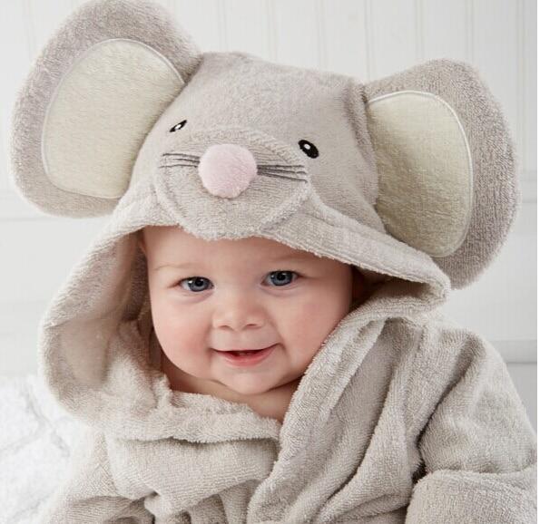 Free shipping Hot! Retail boy girl Animal Baby bathrobe / baby hooded bath towel/kids bath terry children infant bathing / baby